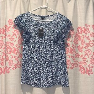 Lucky Brand Blue Floral Top ♥️